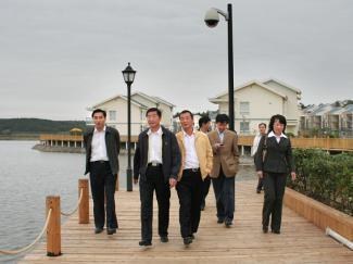 县领导考察来安县白鹭岛国际旅游度假村