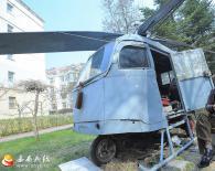 辽宁八旬老人造飞机 模样好像三轮装上翅膀