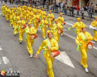 纽约举行舞蹈节游行 中国腰鼓队吸睛