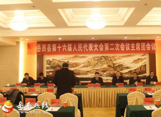 县十六届人大二次会议主席团召开第二次常务主席会议