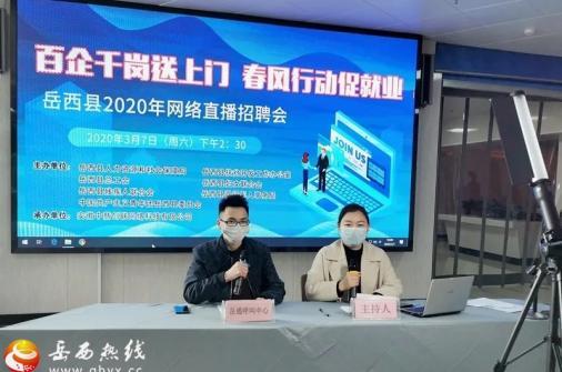 岳西县2020年网络直播招聘会成功举办!